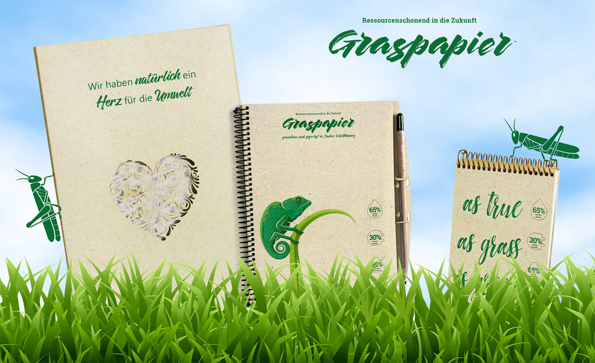 Werbemappen Graspapier